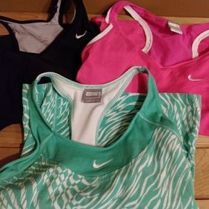 Lot of 3 Nike workout tops sz 3